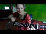 Девушка играет на гитаре. Зацепило. Виктор Цой - Пачка сигарет