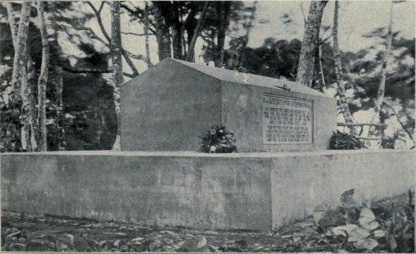 Могила Стивенсона, 1909 год.