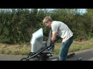 Ленивый папаша Colin Furze решил построить быструю моторизованную коляску