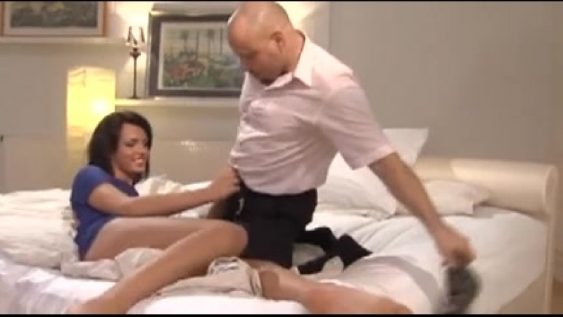 nice ass brunette tranny gets fucked by a massive cock (shemale,