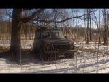 Нива 2131 по снегу в лесу + Тест штатного бампера!