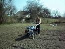 Картофелесажалка 0001. Посадка картофеля мотоблоком Зубр PS-Q 70.