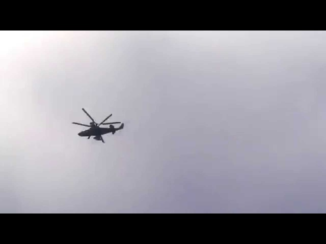 Российские вертолёты КА 52 в Крыму