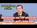 Bundesregierung informiert nicht über TTIP-Risiken, weil's keine gibt