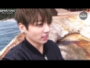 [RUS SUB][BANGTAN BOMB] Jung Kook's self-cam with seagull in the sea (Jacket Shooting)