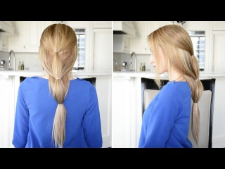 Easy Sectioned Ponytail Hairstyle   Fancy Hair Tutorial