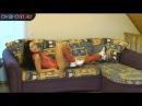Как накачать пресс девушке на диване