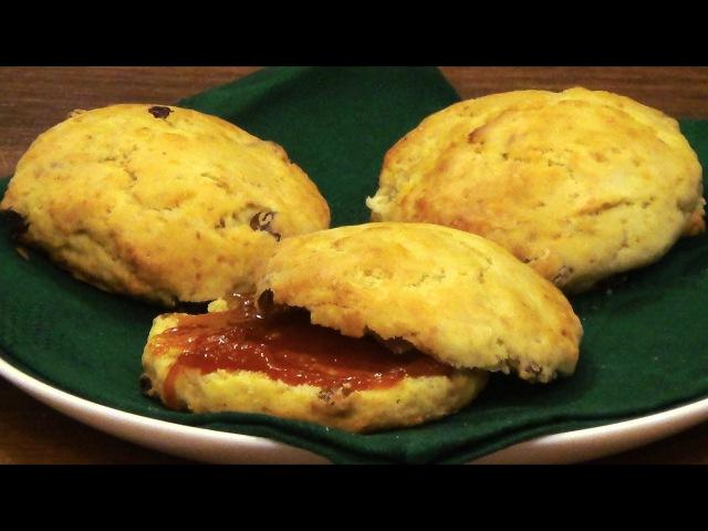 Сконы / scones с апельсиновой цедрой и изюмом