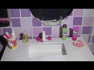 Como fazer um perfume, escova e pasta de dente, xampu e sabonete para boneca