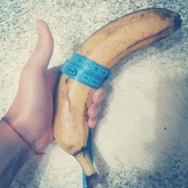 что больше банан или член