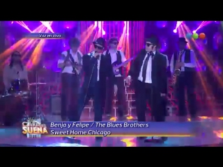 Benjamin Rojas y Felipe Colombo - The Blues Brothers [Tu Cara Me Suena]