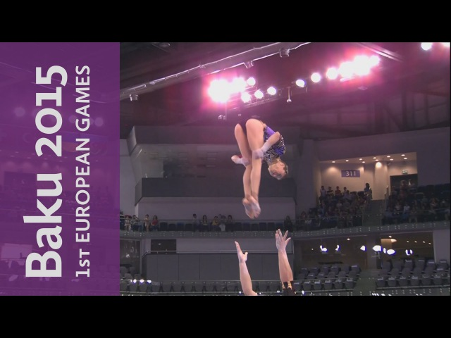 Russia win Gold in the Mixed Pair - Dynamic | Acrobatic Gymnastics | Baku 2015