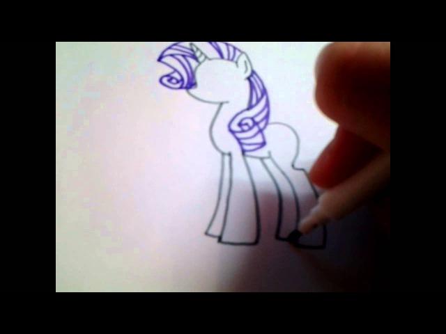 Как нарисовать пони рарити/rarity