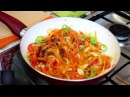 Кальмар с овощами по корейски