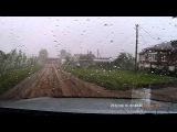 Как выглядит ураган из салона автомобиля (29.08.2014 ураган г.Янаул, Башкирия)