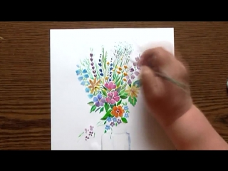 Быстрое Рисование | Летний Букет | Акварель