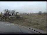 Колонна бронетехники ополчения Russian armored column near the Ukrainian border