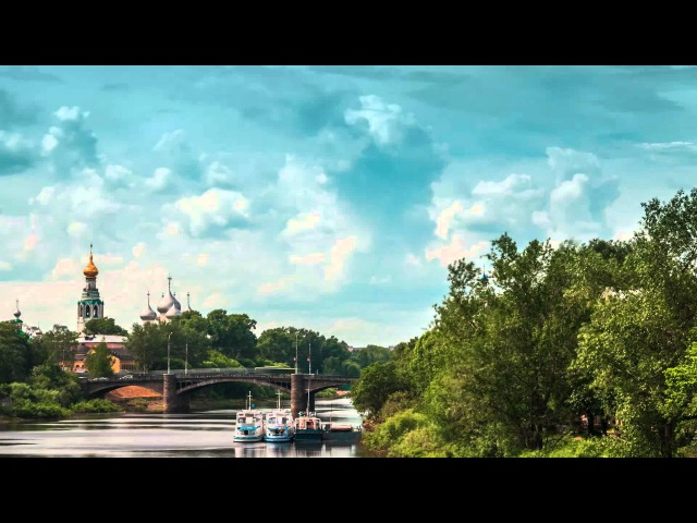 Город. Таймлапс. Timelapse video of Vologda city. Russian Architecture