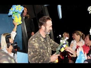 22.09.14 Днепропетровск встречает освобожденных из плена. Украина новости сегодня.