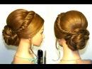 Прическа на длинные и средние волосы на основе жгутов.