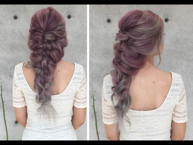 Прическа Русалочки! Mermaid Curly Hairstyle How To