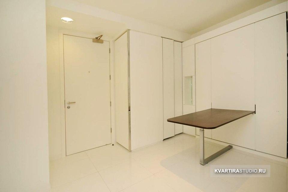 Квартира 33 м с откидной кроватью-столом в Лондоне / Англия - http://kvartirastudio.