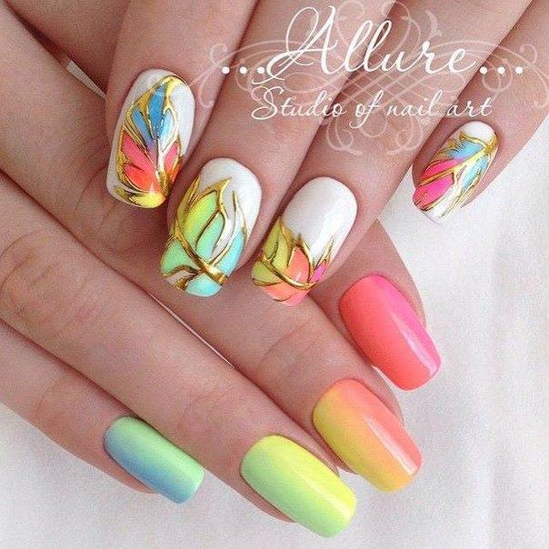 Дизайн ногтей гель лак лето