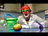 Клоун Дима лаборатория. Научное представление с яблоком. Закон всемирного тяготения