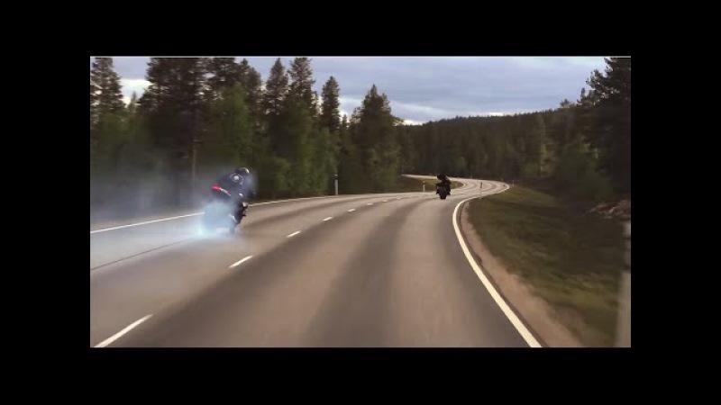 Motorbike street drifting