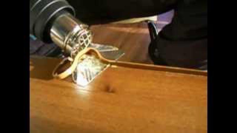 Обработка 2мм кромки ПВХ в домашних условиях!