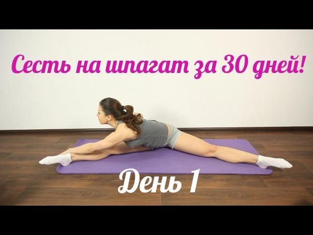 Как быстро сесть на шпагат?! Лучшее- пошаговое видео обучение. День 1. » Freewka.com - Смотреть онлайн в хорощем качестве