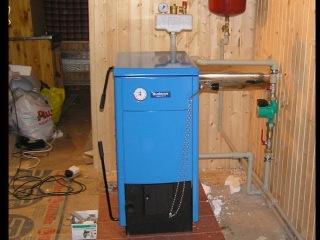 Отопление дома твердотопливным котлом Buderus 12 кВт