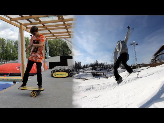 СНОУБОРД: Тренировка на балансборде TREEKIX