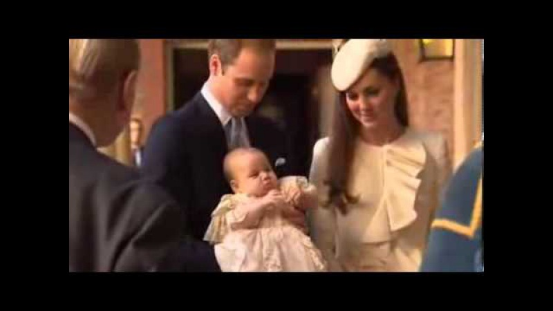 Raw Prince George Christened At St Jamess Palace