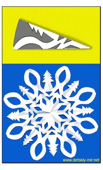 Схема снежинки 1