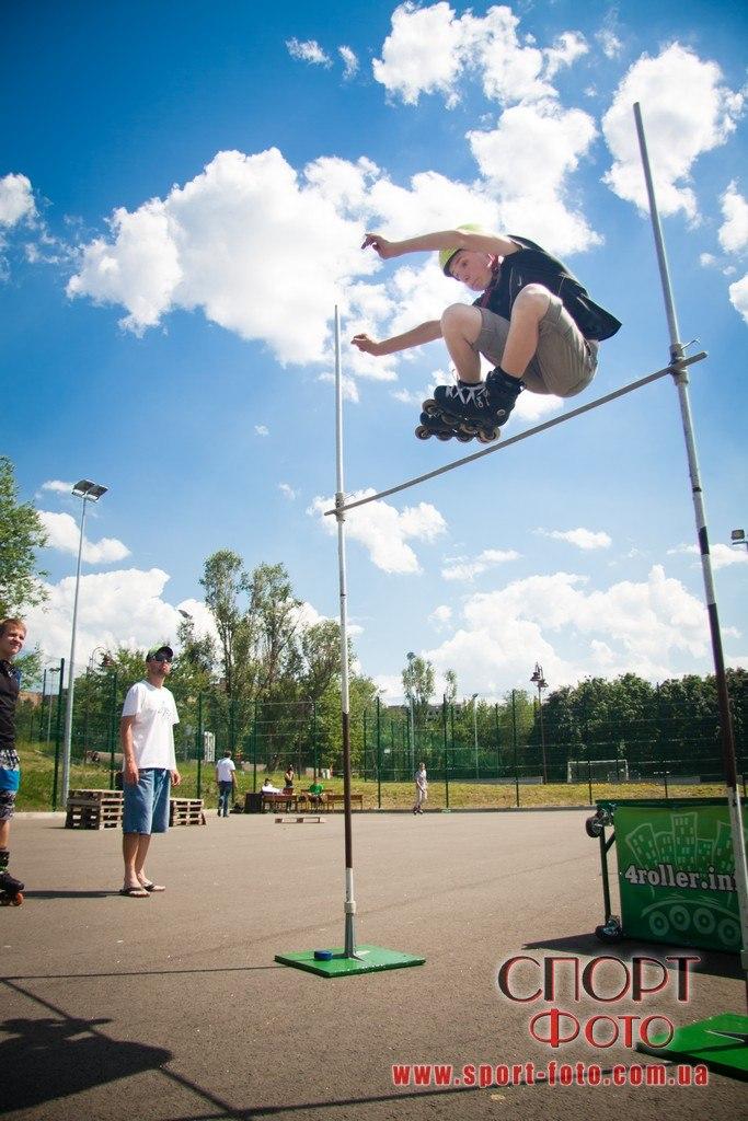Прыжок в высоту с трамплина через планку - Скортарь Ярослав