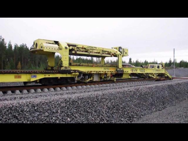 Worlds largest track layer - Plasser Theurer SVM1000 Infranord at Haparandabanan, Sweden