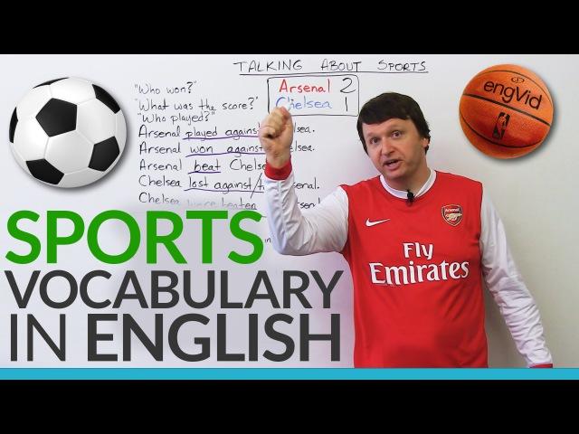 English Vocabulary: Talking about SPORTS!