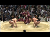 Day 13 Haru 2015, Hakuho vs Terunofuji