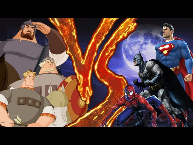 Рэп-дискуссия. SpidermanBatmanSuperman vs Три Богатыря