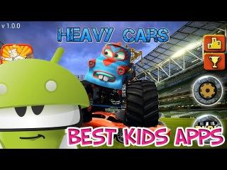 Большие тяжелые машины Бигфут Джипы 4x4 играем в гонки по бездорожью Heavy Cars bigfoot