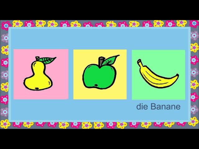 Deutsch lernen: Essen (Spiel - game - jeu de Kim)