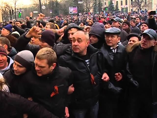 1 марта 2014 Харьков Избиение пленных майдановцев