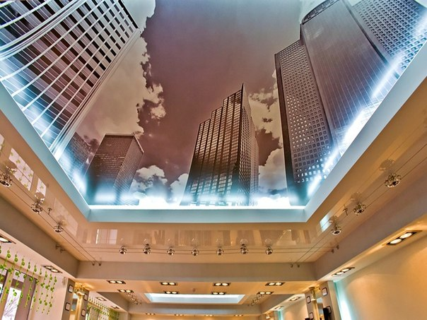 Потолок в виде неба фото