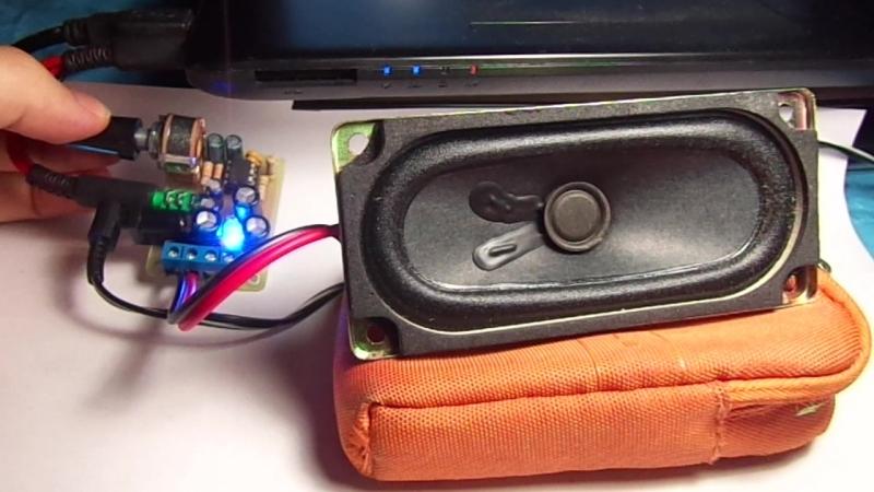 Колоночка для ноутбука на TDA2822m