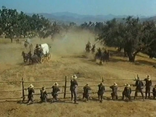 Нападение индейцев на обоз (40 винтовок на перевале апачей)