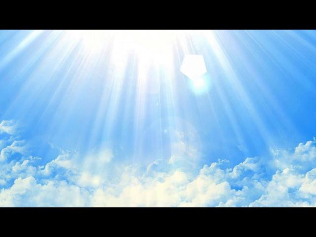 Небо, облака, Фон анимированный, футаж для видеомонтажа.