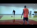 Lebron James Working on Spin Move Footwork with Hakeem Olajuwon