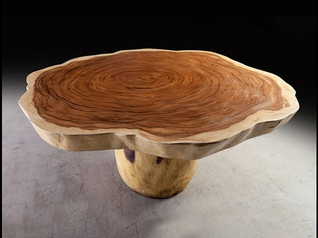 Slab Dining Tables Free Form Acacia tree Stumps Modern Exotic Woods Burl Mango Rosewood Makha