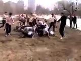 Русские против дагов, уличная драка